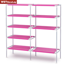 5 Layers 7 Grid Shoe Cabinet Non-woven Shoes Racks Storage Large Capacity Home Furniture DIY Simple Storage Rack Free Shipping