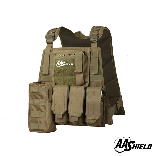 AA Shield Molle Hunting Plates Carrier MBAV Style Military Tactical Vest / OD