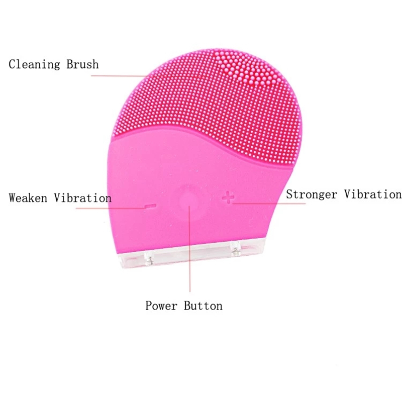 MIQMI Portable Waterproof USB Rechargeable Silicone Electric Mask Cleansing Sonic Facial Brush