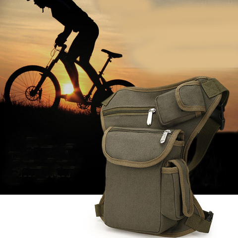 Multi-functional Unisex Canvas Military Tactical Travel Hiking Motorcycle Cycling Leg Bag Pack Outdoor Fishing gear Waist Bags Lahore