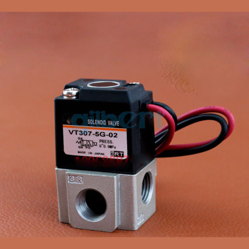 12VDC/24VDC/110VAC/220VAC 1/4 BSP Port Body Ported 3 Port Solenoid Valve Direct Operated Rubber Seal VT307 image