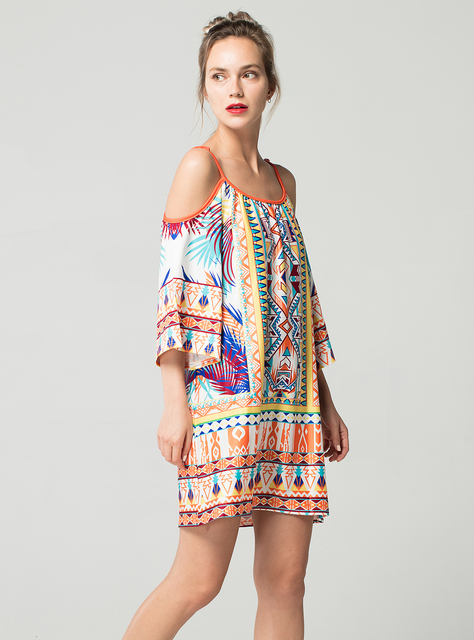 Short Spaghetti Strap Summer Dress