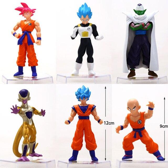 6 pcs Figuras Vegeta Frieza Vegeta Dragon Ball Kakarotto Anime Japonês Figuras de Ação & Toy Pvc Modelo Coleção Presente de aniversário