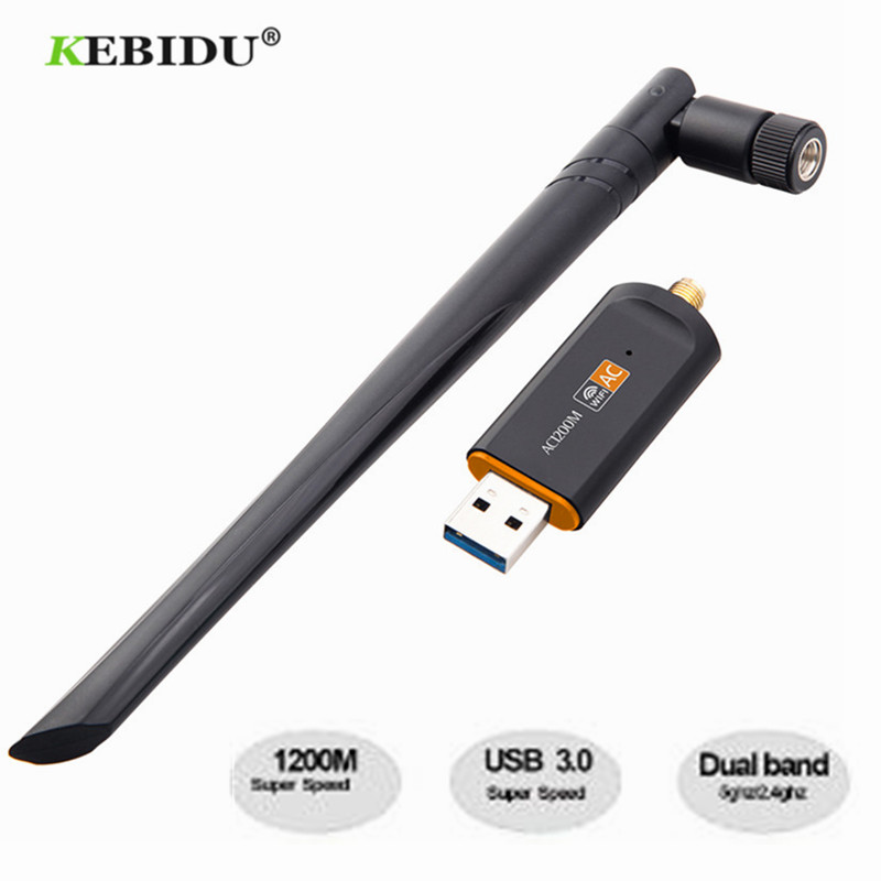 RTL8812 Chipset 1200Mbps 2.4GHz//5GHz 802.11ac WiFi USB Adapter Dongle Antenna