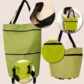 Viagdo Travel Portable Oxford Foldable Shopping Trolley Bag On Wheels Grocery Handbag Sac Cabas Ukraine