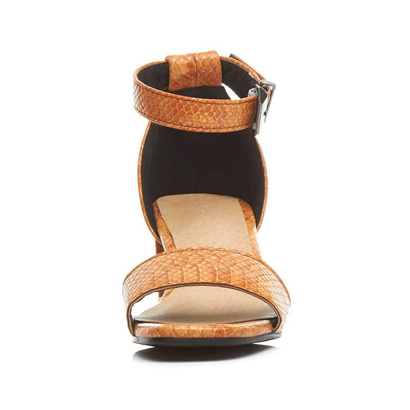 Karinluna בתוספת גודל 33-42 חדש מותג 2018 אבזם רצועת משרד שחור נשים נעלי מוצק קיץ סנדלי אישה נעליים