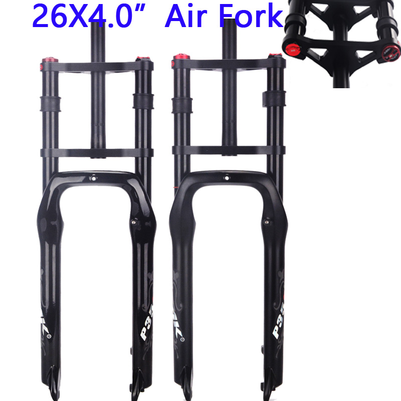 PASAK Double shoulder fat bike fork bicycle 26 4.0 air forkes Snow MTB Moutain 26inch Bike Fork 135mm