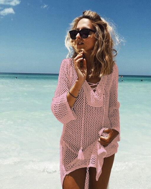 Beach cover up strój kąpielowy cover up tuniki na plaży
