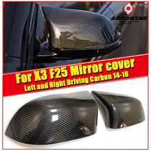 1 Pair Rearview Mirror Cover Cap Housing Left and Right Driving Carbon Fiber Black Fit For BMW X3 F25 Rear Side Mirror Cover 14- все цены