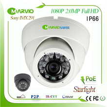 2.1MP 1080P Full HD Poe starlight IP camera with Colorful / IR night vision image Supper low illumination Sony IMX291 Onvif