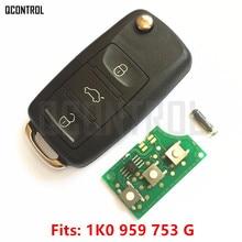 QCONTROL 3 Tasten Auto Funkschlüssel für SEAT Altea/Leon/Toledo 1K0959753G/5FA009263 10 2004 2005 2006 2007 2008 2009 2010 2011
