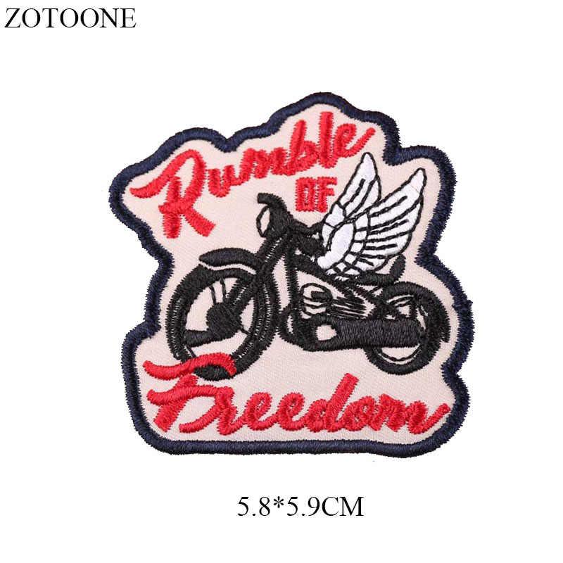 ZOTOONE Ferro no Remendo Motocicleta para Roupas Jaqueta Crachá Applique Bordado Águia Bicicleta Tactical Patches para Mochila DIY