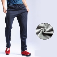 Grandwish Winter Fleece Pants Men Straight Plus Size 4XL Thick Fleece Pants Man Active Velvet Pants