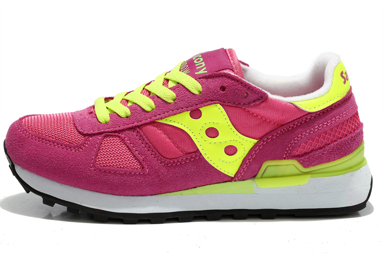 Free shipping Hot Sale West Nyc x Saucony Shadow Original Women's Shoes,New Colors Women's Shoes Pink/Yellow Color
