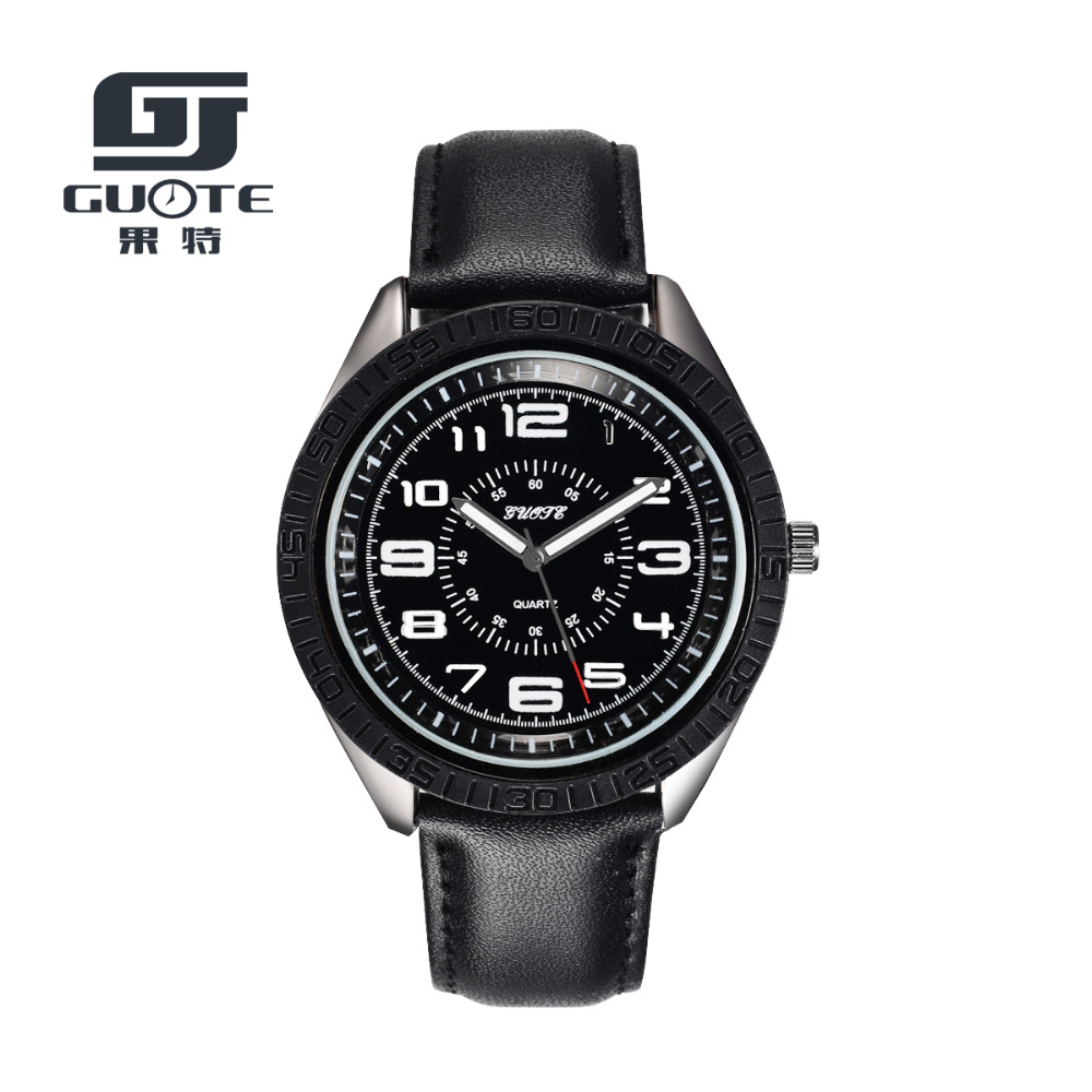 2016 New GUOTE Brand Fashion Casual Quartz Watch Men Luxury Leather Strap Watches Outdoor Sport Military Watch Relogio Masculino 2017 new luxury brand men outdoor military watch silicone strap men s sports watches casual quartz watch relogio masculino hot