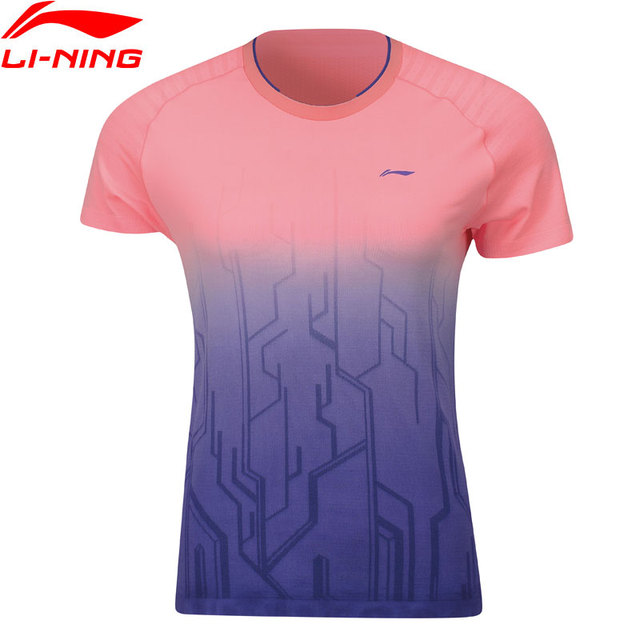 Li-Ning Women's Badminton Competition T-Shirts Mono Yarn AT DRY LiNing Breathable Sports Tops Tees AAYP066 WTS1489