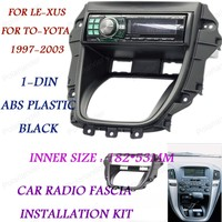 Araba radyo fasya kurulum seti 1-DIN TO-YOTA Ha-rrier yıl 97-03 TLE-XUS RX-300 yıl 97-03 siyah