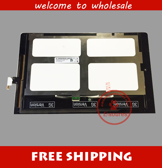 free shipping Test OK Display Assembly Touch Screen For Lenovo B8000 Yoga Tablet 10 MCF-101-1093-V3 original quality test ok lcd display touch screen digitizer assembly for lenovo vibe x2 x2 to x2 cu black free shipping track