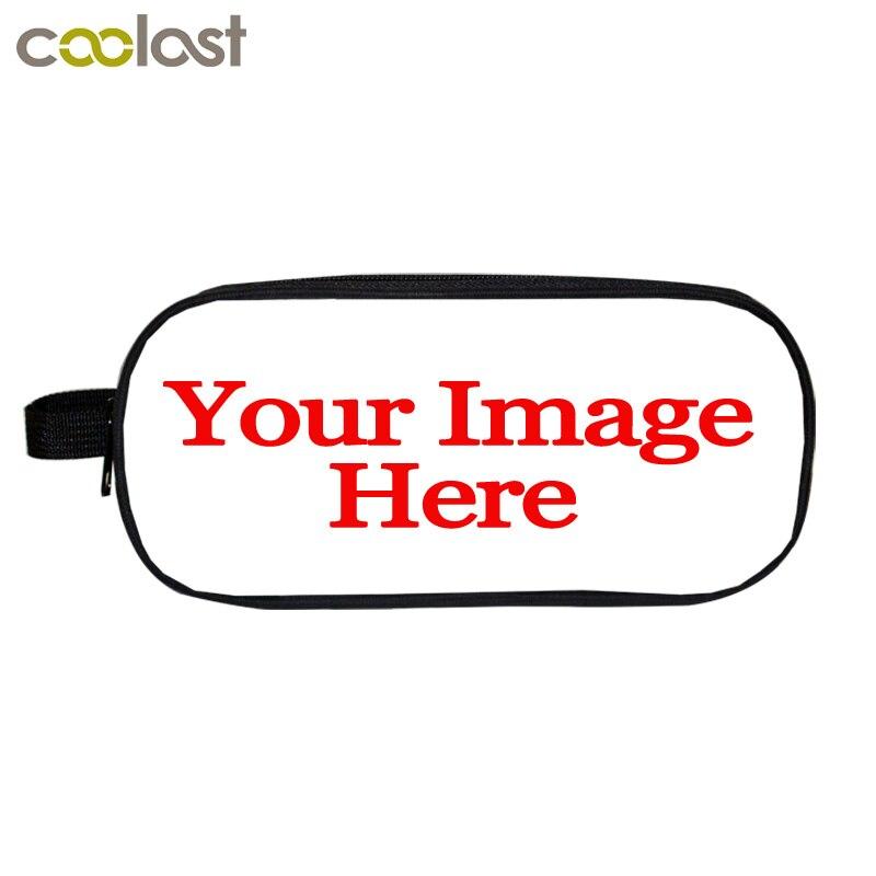 Настроить ваш образ Логотип Название Для женщин косметички и случаи дети Dab панда карандашница составляют мешок кошки школа Случае ...