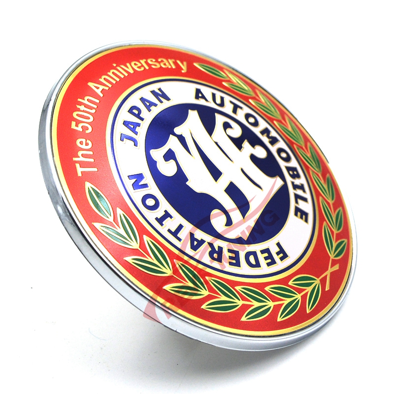 70th ANNIVERSARY Sticker Red Universal Metal Car Logo Emblem Badge Brand Decal