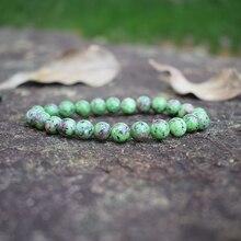 лучшая цена Fashion Natural Tourmaline Stones Strand Bracelets for Women Epidote Zoisite Beaded Bracelets Men Handmade Semi-precious Jewelry