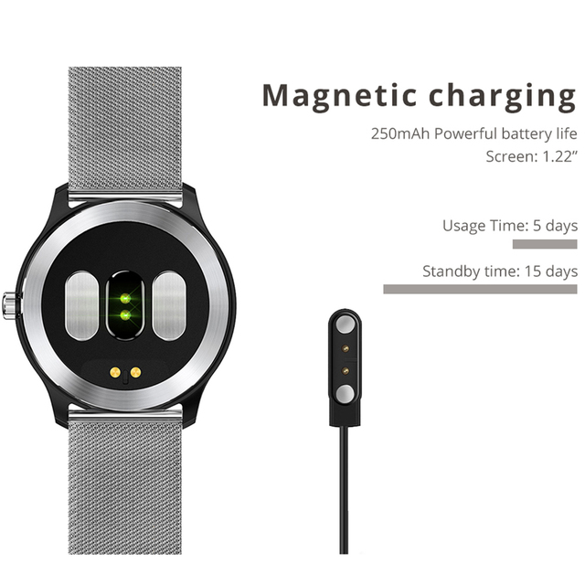 Men's Multifunction Fitness Tracker with Stainless Steel Band