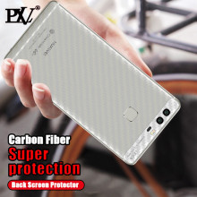 PLV Carbon Fiber 3D Soft For Huawei P8 P9 lite Film Clear Scratch Back Film For Huawei P8 P9 P10 Plus