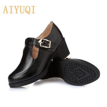 Zapatos de mujer de cuero genuino Puls talla 34 43 para mujer otoño 2020 nuevos zapatos de piel de vaca informales