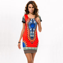 b4fc5dd0d55 Boho Women Summer Tunic Dress Hippie Punk Traditional Dashiki Top Shirt  Dresses For African Clothing plus