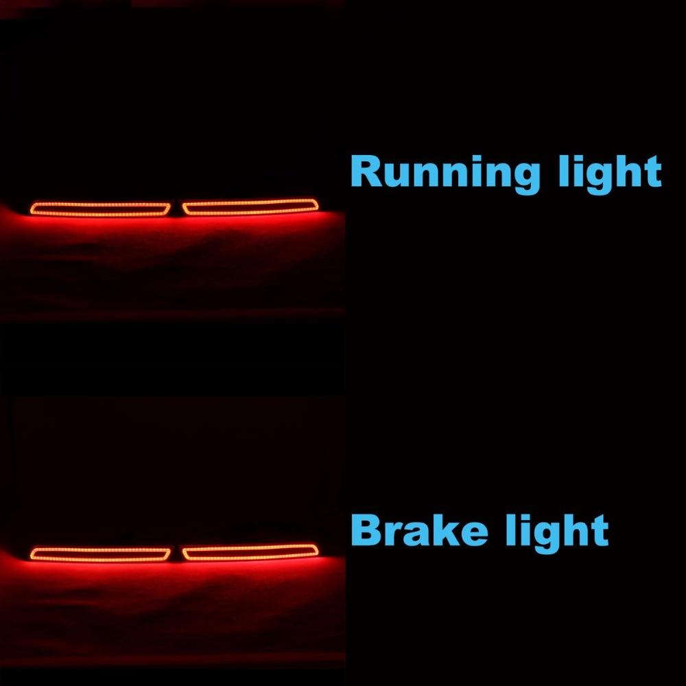 LED bakre stötfångare varningslampor bilbromslampa COB körljus - Bilbelysning - Foto 3