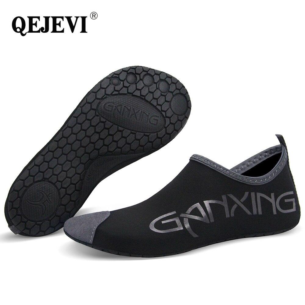 2019 QEJEVI Barefoot Water Skin Shoes Beach Shoes Women Men Reef Swim Pool Sea Yoga Aqua Socks Outdoor Walk Footwear Sneaker