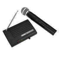 WEISRE SH 200 Professional Microphone 2 Channels Wireless Handheld VHF Transmitter Microphone Set For Studio Karaoke Radio