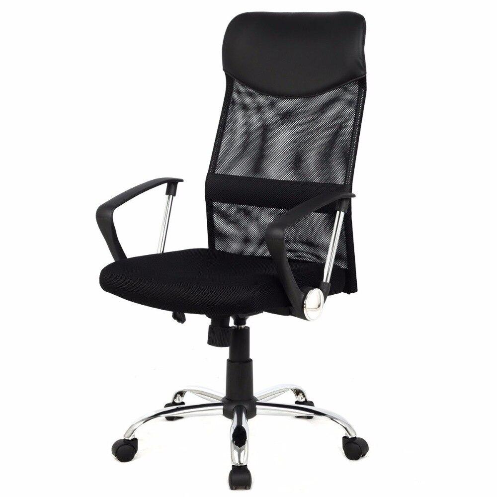 Фотография Giantex Modern Ergonomic Mesh High Back Executive Computer Desk Task Office Chair Black Gaming Chairs CB10051