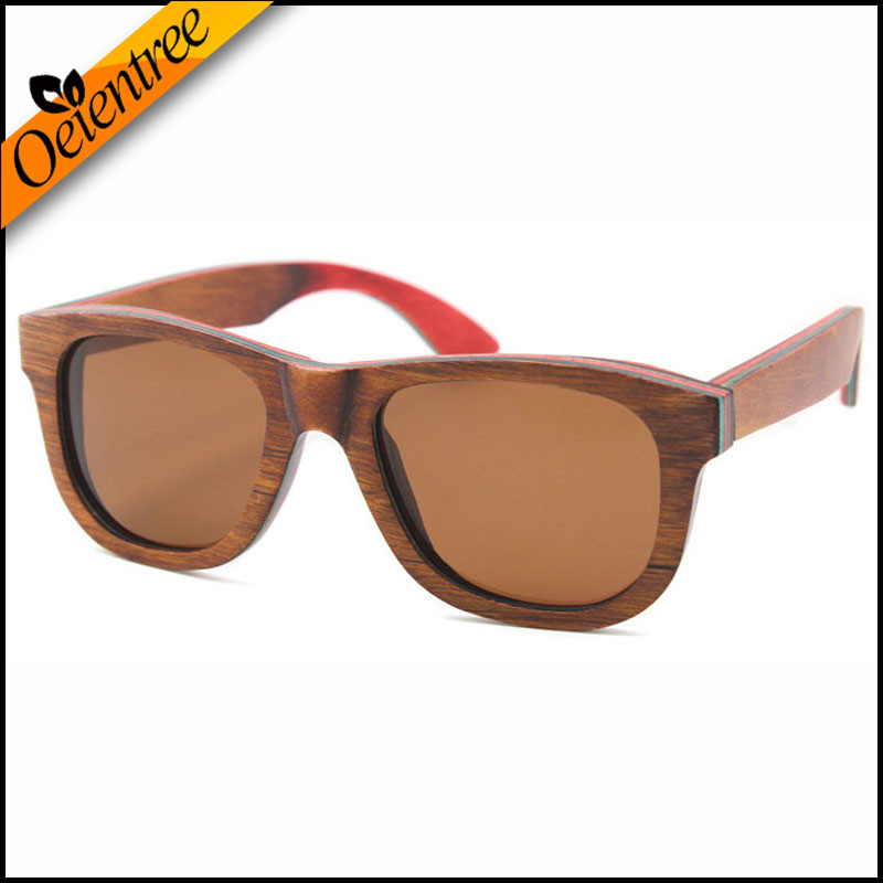 Luxury Handmade 100/% Skateboard Wood Sunglasses Polarized Retro Wooden Glasses