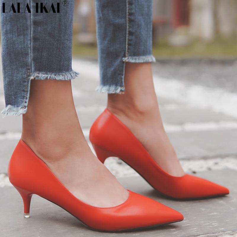 Lace Up Women Platform Chunky Heel Pumps High Heels Shoes