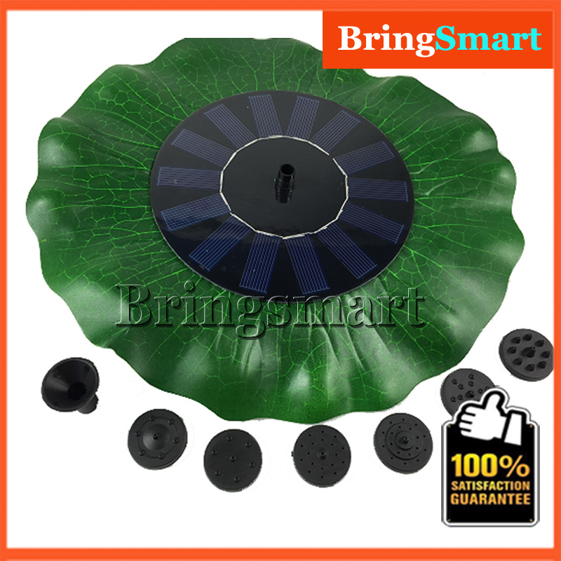 JT-160F1HY38 200L/H 90CM Solar Simulation 38*38CM Lotus Leaf Fountain Pump 8V DC Brushless Fountain Pump with Solar Panel 38 38cm