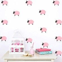 Hot venda Criativa ovelhas DIY Adesivos de Parede para quartos de crianças quarto adesivos de parede Home decor Sala de estar do quarto do bebê