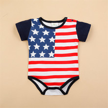 Flag Design Baby Boy Girl Clothes Infantil Newborn Short Sleeveless Triangle Coveralls Next Bebes Jumpsuits Rompers