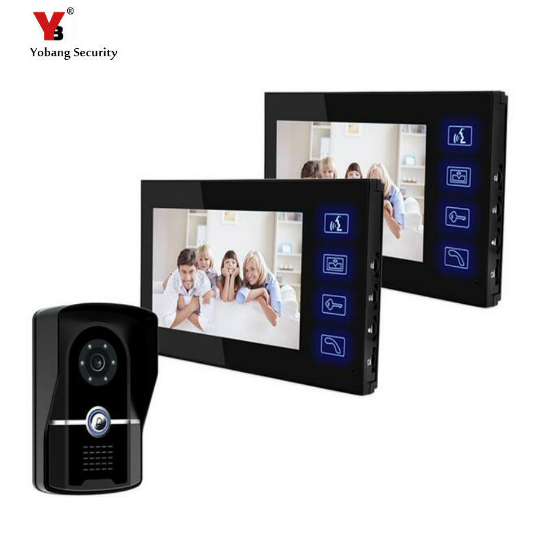 Yobang Security 7 Color Video Doorphone Door Entry Video Intercom Systems Touch Keypad Doorbell Phone Monitor Camera Doorbell yobang security video doorphone camera outdoor doorphone camera lcd monitor video door phone door intercom system doorbell