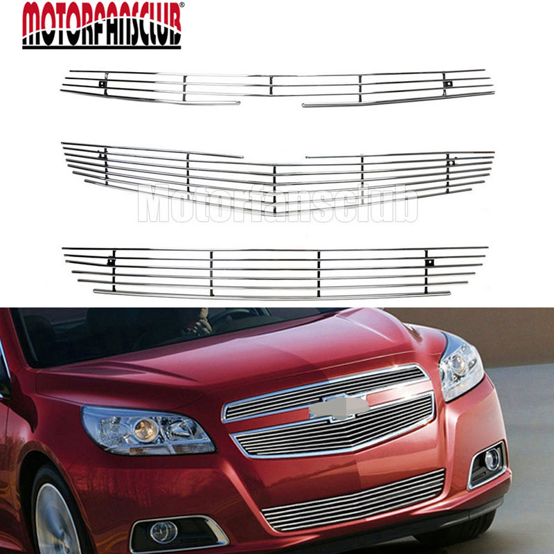 Aluminum Alloy Billet Grill Front Bumper Insert Grille Decoration For Chevrolet Malibu 2012 2013 2014 for subaru outback 2010 2011 2012 2013 grill grille front bottom racing cover trim high quality new aluminum alloy