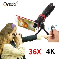 HD Mobile Phone 4K 36x Telescope Camera Optical Zoom Lens Cellphone Telephoto Lens es For iPhone Samsung Huawei Smartphone