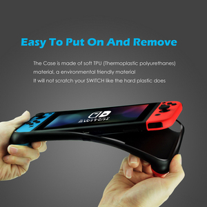 Image 3 - New Portable Case for Nintend Switch Console Carry Gaming Bag Soft TPU Case with Ergonomic Grip Shell Pouch for Nitendo Switch