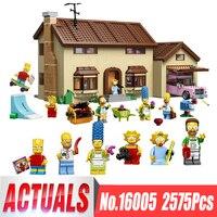 New 2575Pcs Lepin 16005 Simpson S Family Kwik E Mart Set Building Blocks Bricks Educational Toys