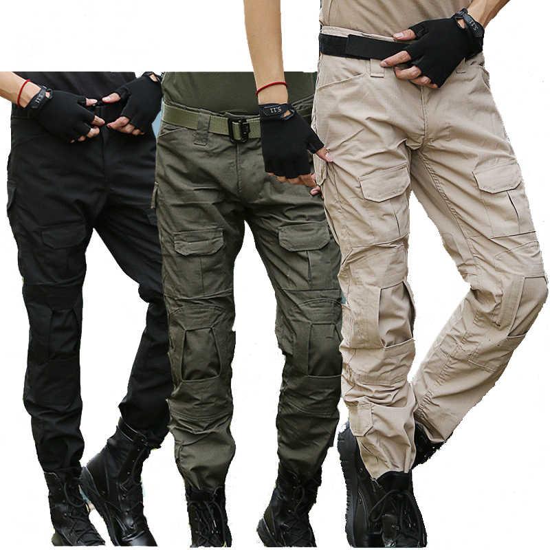 Spodnie Taktyczne Spodnie Cargo Camo Męskie Wojskowe Swat Spodnie Bojówki Męskie Airsoft Paintball Slim Casual Kamuflaż Militarne Spodnie Bojówki Aliexpress