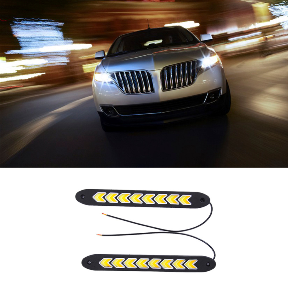 2pcs Super White Bendable Led Daytime Running Light 100 Waterproof COB Day Time Lights Flexible LED