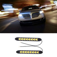 2pcs Super White Bendable Led Daytime Running Light 100 Waterproof COB Day Time Lights Flexible LED