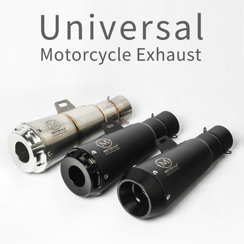 2018 New 51MM Universal Motorcycle Exhaust Pipe Escape Laser Marking M Motorbike Muffler For DUCATI Scrambler Ninja250 ER6N R3 new motorcycle exhaust full stystem mid link pipe motorbike laser marking muffler for ducati scrambler with muffler