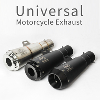 2018 New 51MM Universal Motorcycle Exhaust Pipe Escape Laser Marking M Motorbike Muffler For DUCATI Scrambler