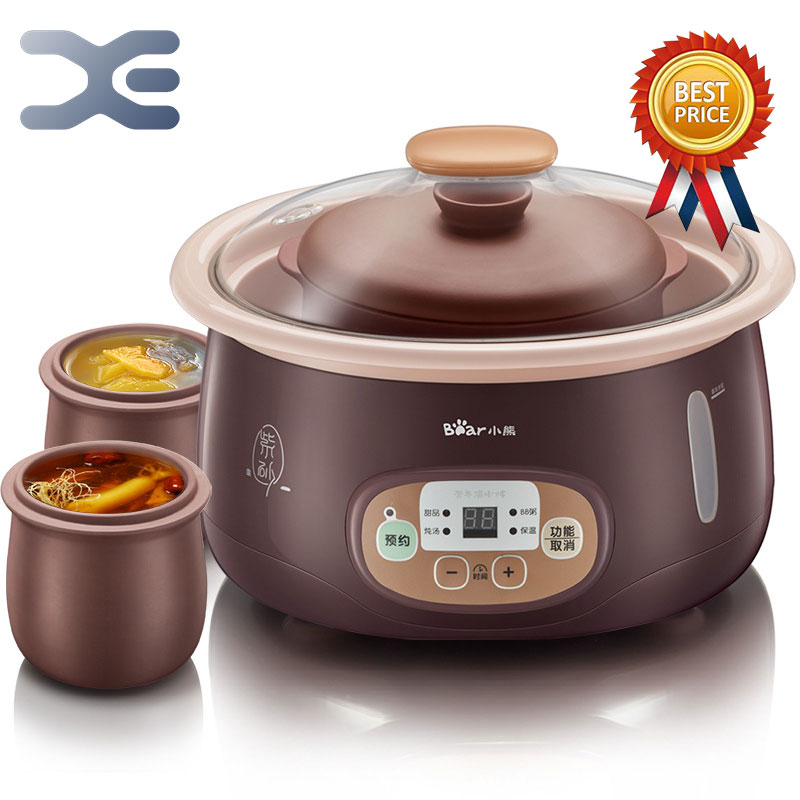 1.8L Crockpots Electric Stoves 1 Pot 3 Liner High Quality Slow Cooker 220V Mini Casserole Electric Cookers Cooker casio mtp e145d 1a