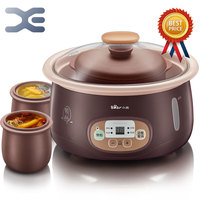 1.8L Crockpots Electric Stoves 1 Pot 3 Liner High Quality Slow Cooker 220V Mini Casserole Electric Cookers Cooker